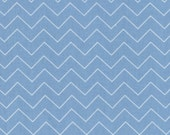 Dear Stella Designs pastel blue  Zig Zag chevron quilting cotton by the yard off the bolt