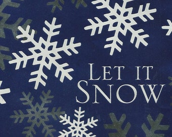 Let It Snow Holiday Gift Wrap for your purchase