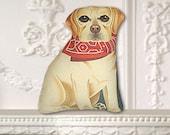 Yellow Labrador Retriever - Small Dog Pillow or Ornament