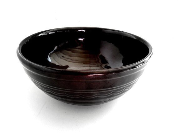 Marcrest Daisy And Dot Mixing Bowl In Colorado Brown Large
