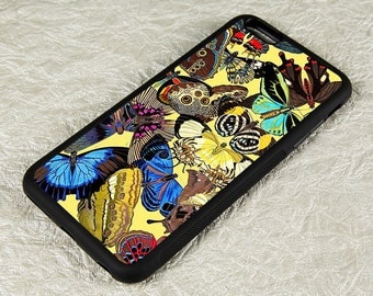 Butterfly iPhone 5 Case, Art Deco iPhone 6 cover, iPhone 5C Case, Silicone Rubber iPhone 6 Plus Case, iPhone 7 Case