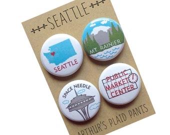 Seattle, Seattle Washington, Seattle magnets,magnet set