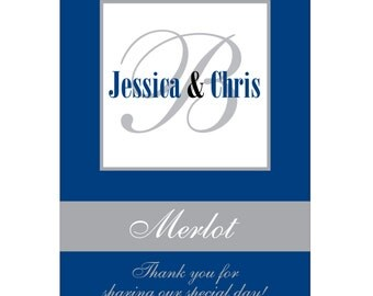 112 - 2x2.67 inch Custom Wedding Rectangle or Mini Wine Bottle Labels - hundreds of designs to choose from - change wording or colors WN-029