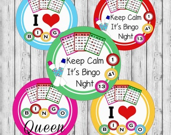 "INSTANT DOWNLOAD Bingo JPEG 4x6 Image Sheet 1"" Bottle Cap Images. Hairbows Bottle Caps Cupcake Toppers"