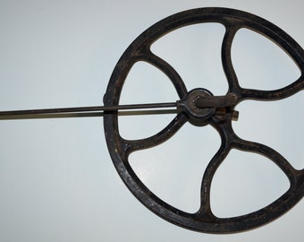 Vintage treadle sewing machine drive pulley wheel