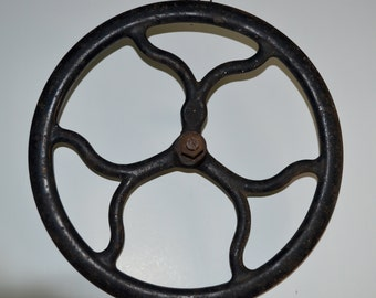 Vintage treadle sewing machine fly wheel pulley