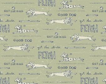 Unleased Green - Dogs from Blend Fabrics