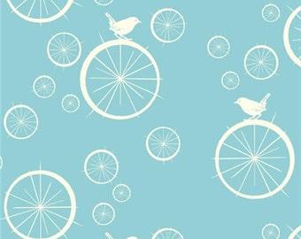 Mod Basics - Birdie Spokes Pool Aqua - KNIT from Birch Fabrics