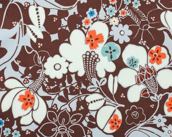 Oska - Chocolate Floral from Alexander Henry