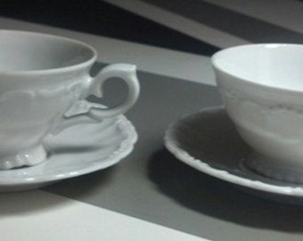 Set of Two Demitasse Cups and Saucers from Germany
