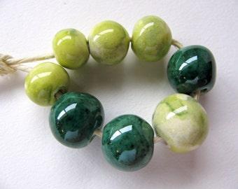 Green Garden Beads (8)