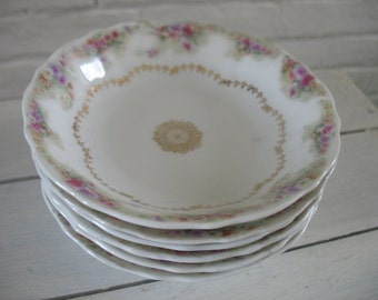 Vintage Berry Bowls -  Set of Six - C.T. Germany