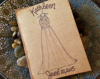 Wedding Card for the Bride - Personalized with HER Wedding Gown Perfect for Bridal Shower