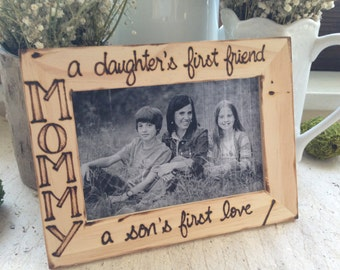 Picture Frame for Mom Mum Mothers Day Birthday a Daughters Friend Son's Love Quote Gift From Kids