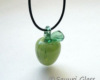 Green Apple Glass Pendant : Disaster Relief