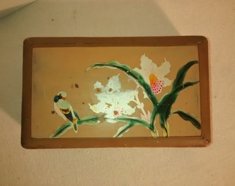1940's Lacquered Wood . Whitman's Chocolates Box ,  Made in Japan , Original Key