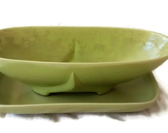 Lime Green , Mid Century Planters , Abingdon , 1960's Pottery