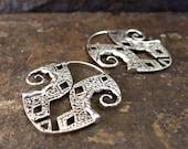 Inca Silver earring