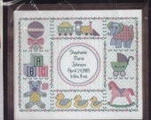 Nursery Time Sampler Counted Cross-Stitch Kit