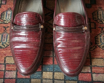 Italian leather, cordovan women's loafer size 8.5  Cuoio Italy Loren Philips shoes