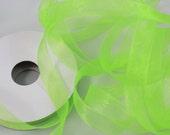 "5/8"" Organza Ribbon - 25 yard Spool - Apple Green"