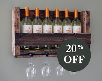 sale wall mounted wine rack holder wine glass holder gift wine