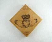 Claddagh Wall Art - Wood Pyrography - Wall Art