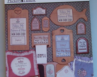 """Vintage Cross Stitch Pattern Leaflet """" Blessed Events """"   Used"""