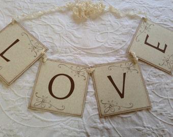 Love Banner - Bridal Shower Decor - Wedding