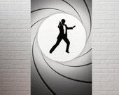 SPY BANNER artwork - 3 banners - 2.5 x 6 ft Vertical - for Birthday, Bachelor Party etc - Secret Agent DIY
