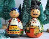 Wood Handpainted Russian / Eastern European Dolls