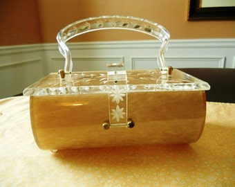 Charles S. Khan  clear top lucite handbag