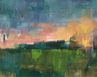 "Field 922 original watercolor 9"" x 6"""