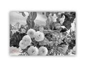 Black and White Flower Art, Nature Photography, Bouquet Art, Flower Print, Fine Art Print, Wall Picture, Floral Art, Garden Art