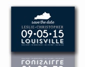 Reserved Save the Dates, Wedding save the date, Modern state outline, Save the Date Postcards, Kentucky, Printable, Digital, DIY