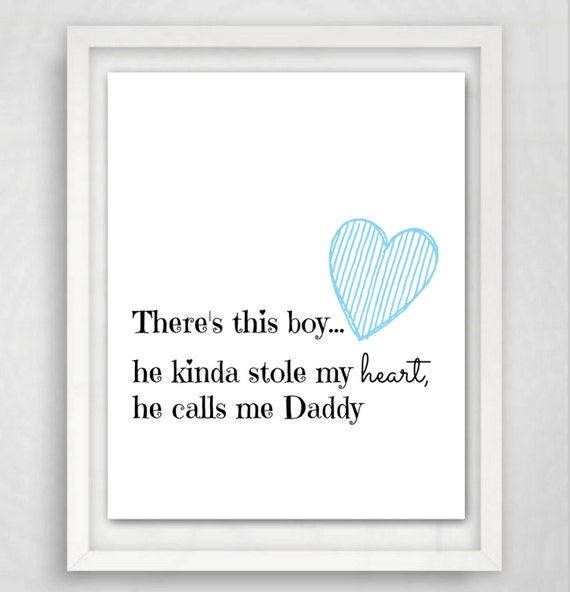 Daddys First Fathers Day Part - 33: First Fathers Day, Printable Quote, Daddy Quote, Printable Gift, New Daddy  Gift, Instant Download, Fathers Day Gift, New Dad Gift