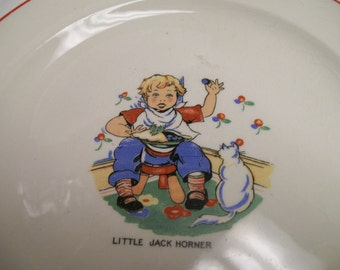 Little Jack Horner Plate Antique Childrens Plate