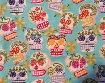 Sugar skulls, dia de Los muertas, bright colors