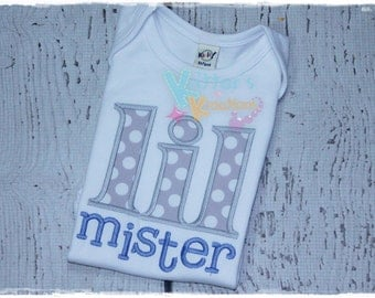 Little Mister - Brother - Sibling Embroidered Applique Shirt