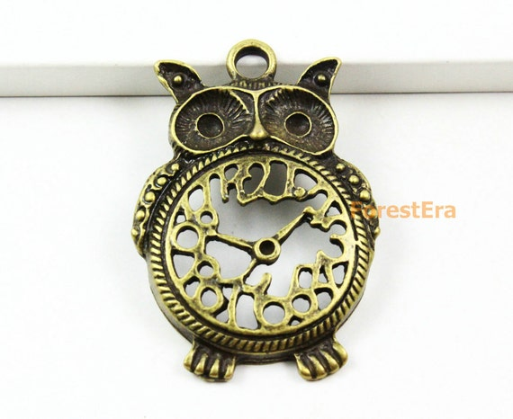 4pcs antique brass clock charm owl clock pendant 48x33mm pnd918 4pcs antique brass clock charm owl clock pendant 48x33mm pnd918 from forestera on etsy studio mozeypictures Images