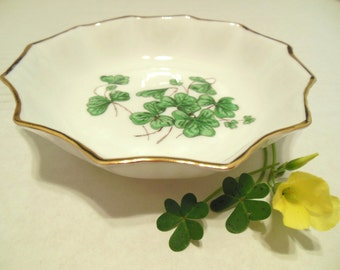 Vintage Lucky Shamrock Hammersley Bone China Mini Nut Bowl 50's (item 3)