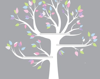 Shelf Tree decal, Reading Tree, bookshelf tree, vinyl wall art, tree wall decal, playroom decor
