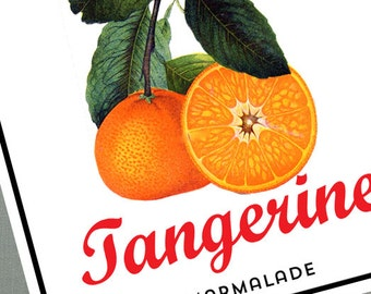 Vintage Style Tangerine,marmalade Labels or Gift Tag, Set of 18