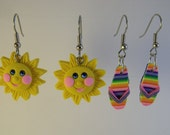 Flipflop and Sunshine  Earrings