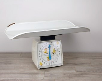 Vintage Hanson White Baby Nursery Scale