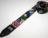 Comic book super hero handmade guitar strap with double padding - This is NOT a licensed product