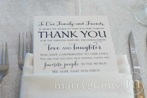 Thank You Letter For Wedding Guests: Wedding Reception Thank You Card To Your Guests To Our