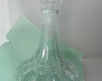 Vintage Austrian Crystal Decanter Genie In A Bottle Style Liquor Decanter