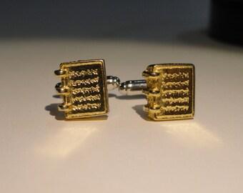 Golden Plates Cufflinks