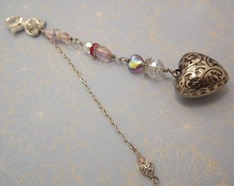 Valentine Purple Purse Charm